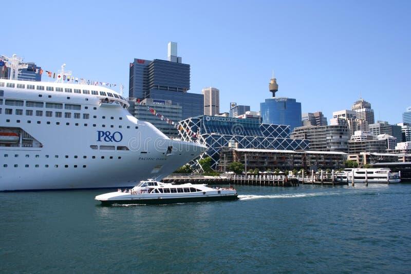 Cruise Ship, Sydney, Australia royalty free stock image