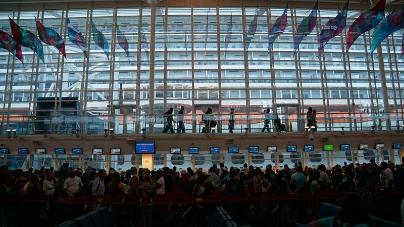 Cruise ship terminal in Miami, Florida. USA royalty free stock photography
