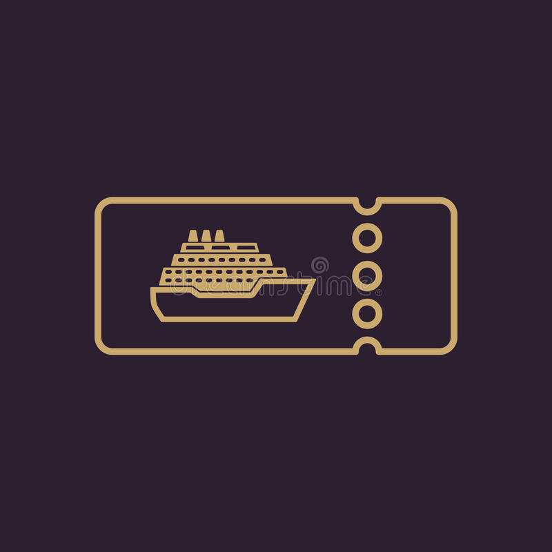 The cruise ship tickets icon. Travel symbol. stock illustration