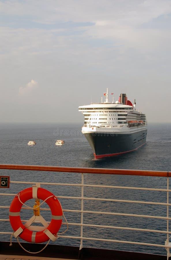 Cruise ship vacation stock image