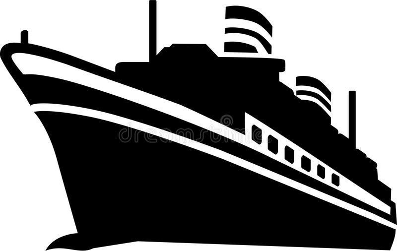 Cruise Ship vector. Cruise Ship ocean sail vector royalty free illustration