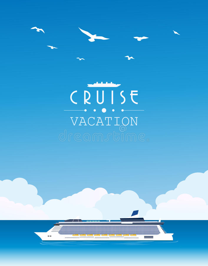 Cruise ship. Vector illustration background vector illustration