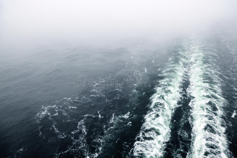 Download Cruise Ship Wake Or Trail On Ocean Surface Stock Images - Image: 26086934