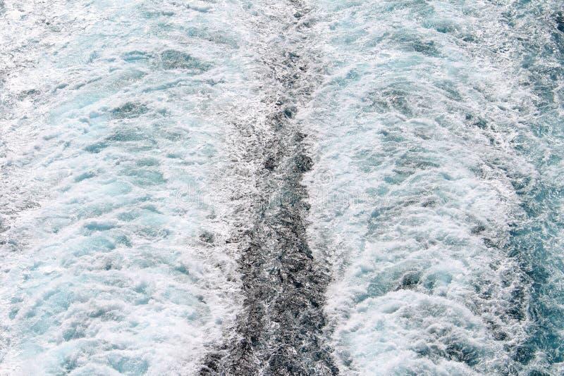 Cruise Ship Wake 2 stock photos