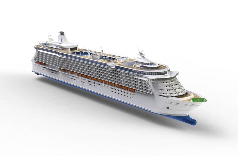 Download Cruise ship on white stock illustration. Illustration of boat - 26287948