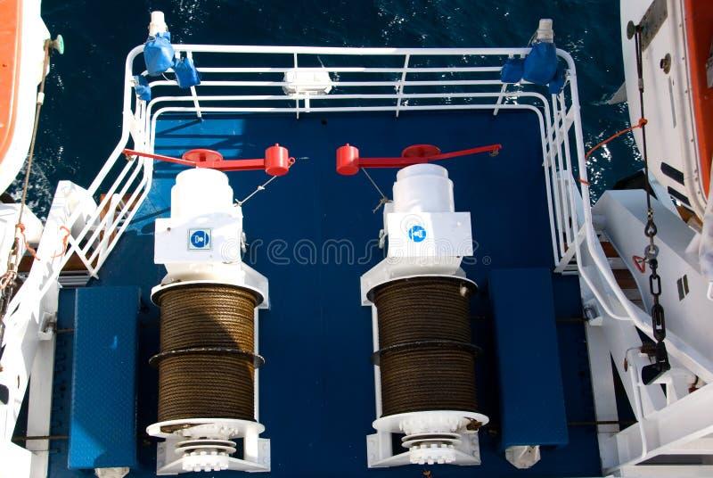 cruise ship winch στοκ εικόνα