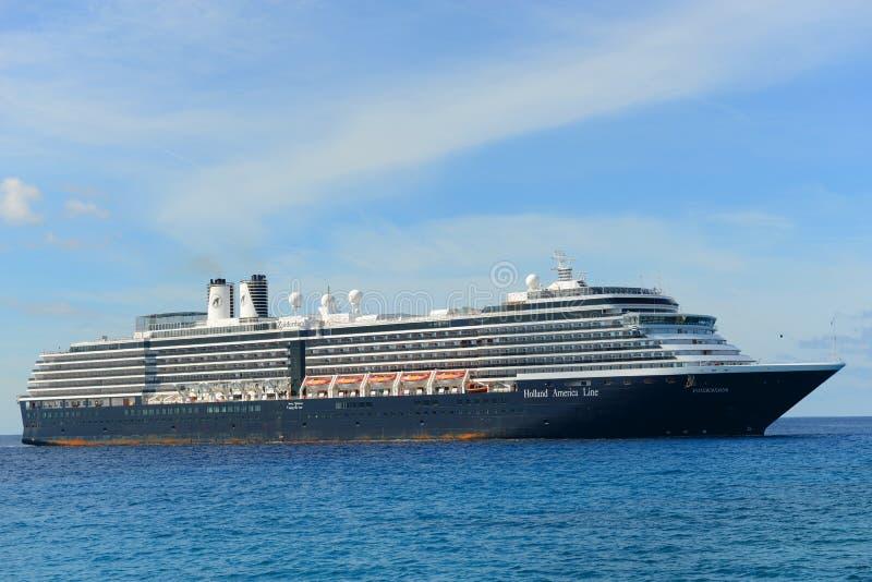 Cruise Ship Zuiderdam in Bahamas royalty free stock image