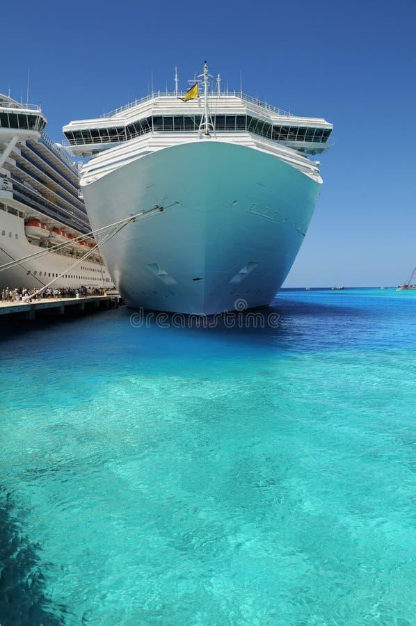 Cruise Ships Anchored in Grand Turk Island stock photography