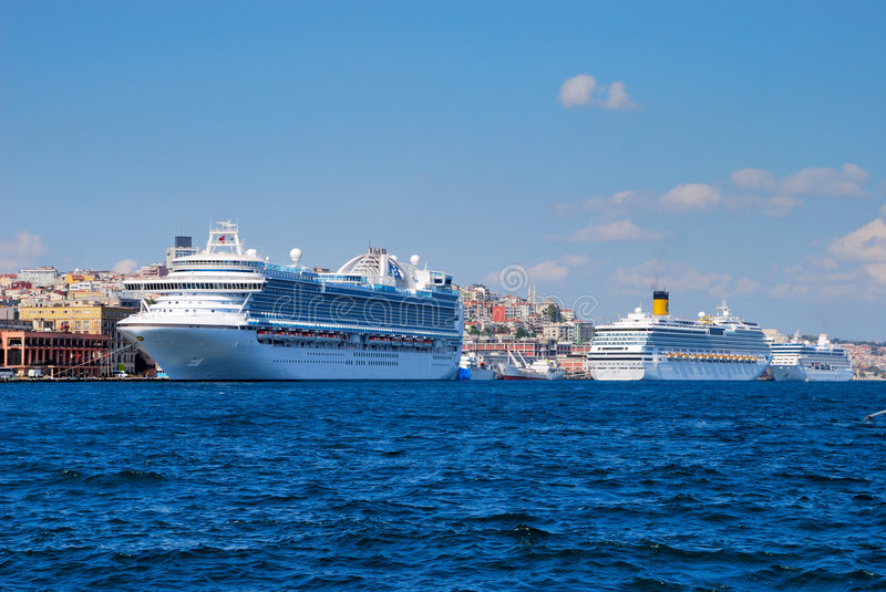Download Cruise ships in Istanbul stock image. Image of ship, vacations - 8477687