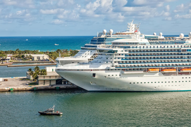 Cruise Ships in Port Everglades royalty free stock image
