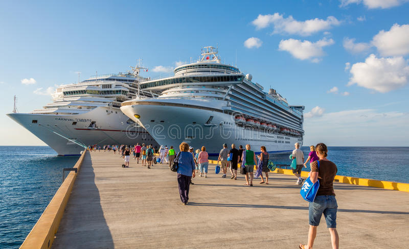Cruise Ships In Port royalty free stock image