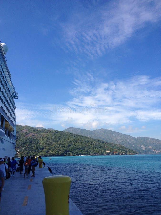 Cruise in St. Martin stock photos
