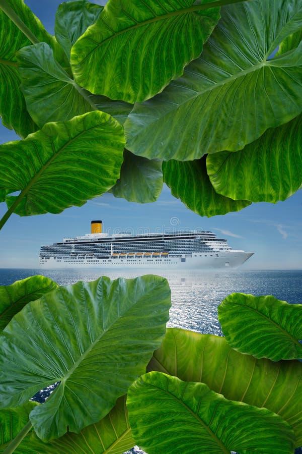 Cruise to paradise royalty free stock images