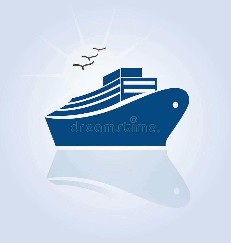 Cruise Travel Icon stock illustration