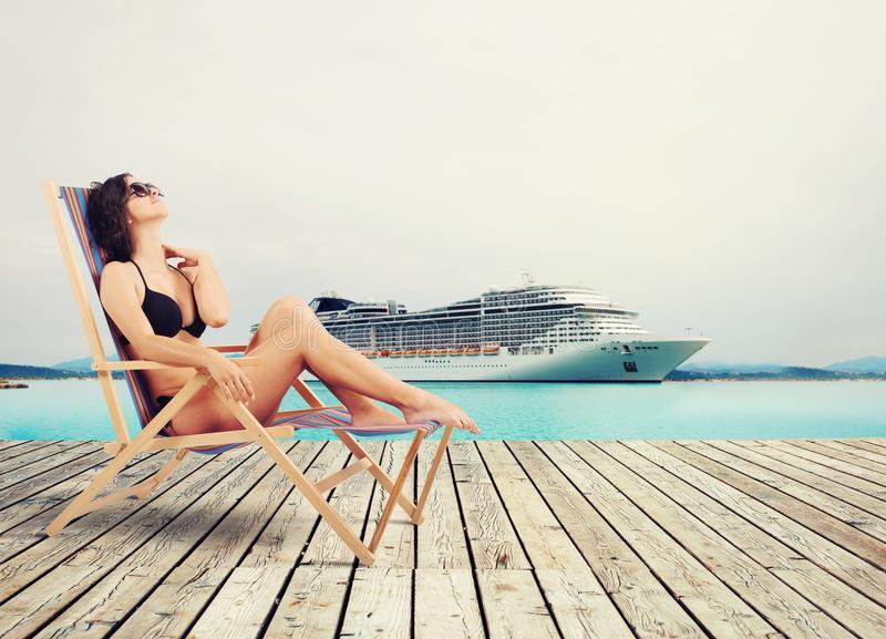 Cruise vacation royalty free stock image