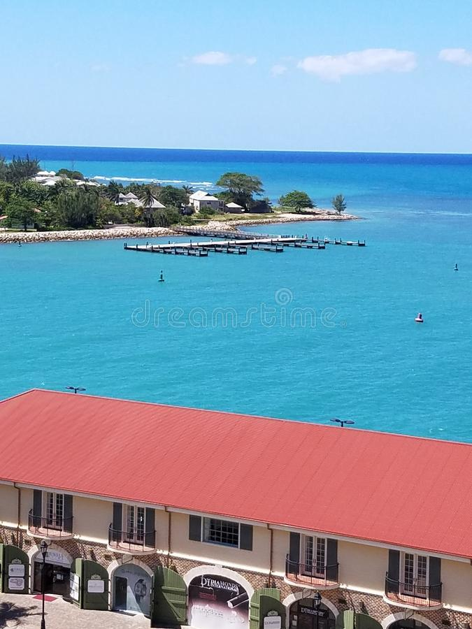 Cruise View Jamaica stock photo