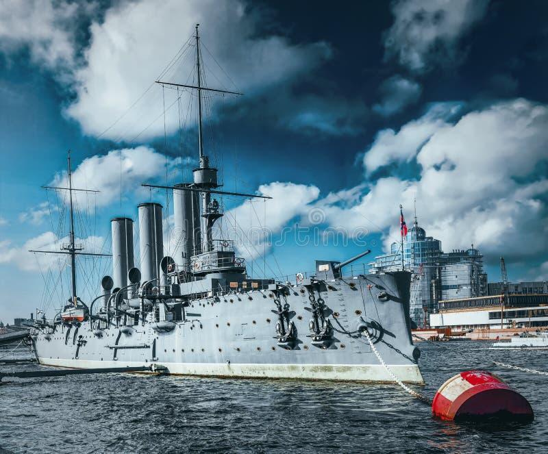 Cruiser Avrora in the city Saintt-Petersburg. Russia. Cruiser Avrora in the  Saint-Petersburg. Russia stock photo