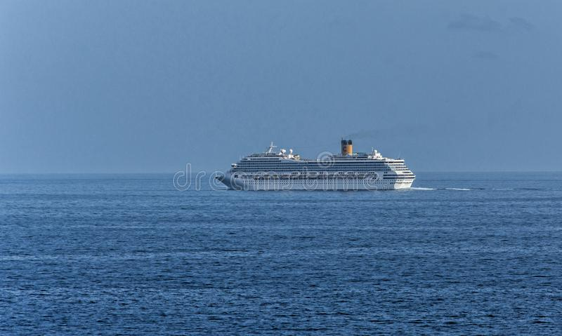 Cruiser Independence of the Seas. At sea royalty free stock photo