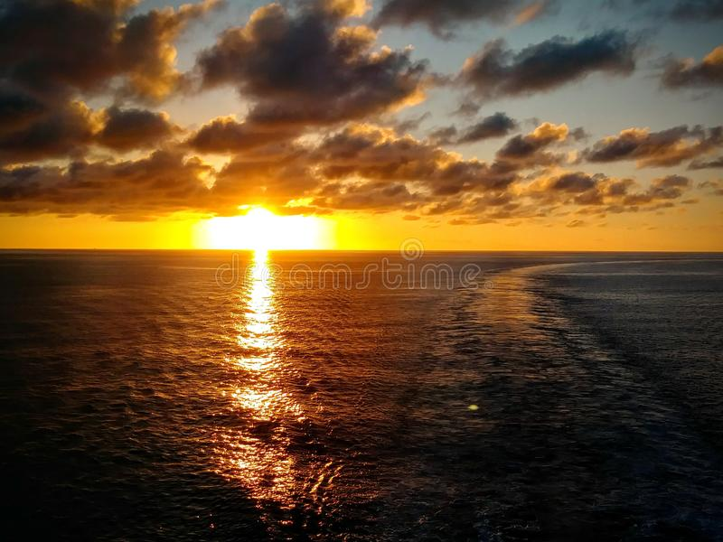Sunset princess cay royalty free stock images