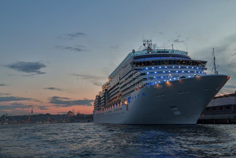Cruises from Istanbul Port. Bosporus, Turkey royalty free stock photo