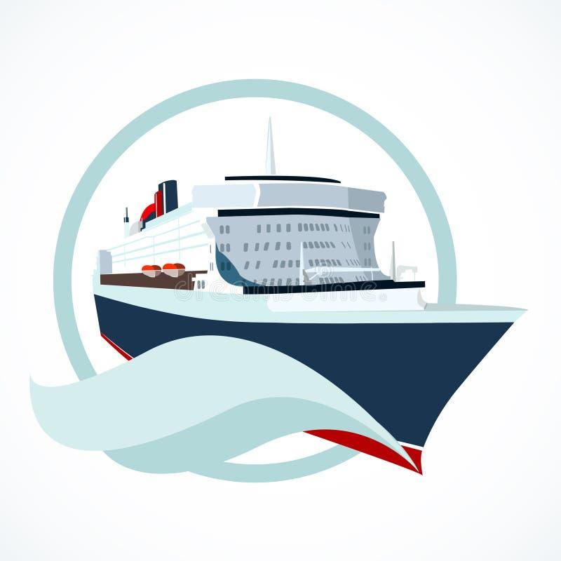 Cruiseschip vector illustratie