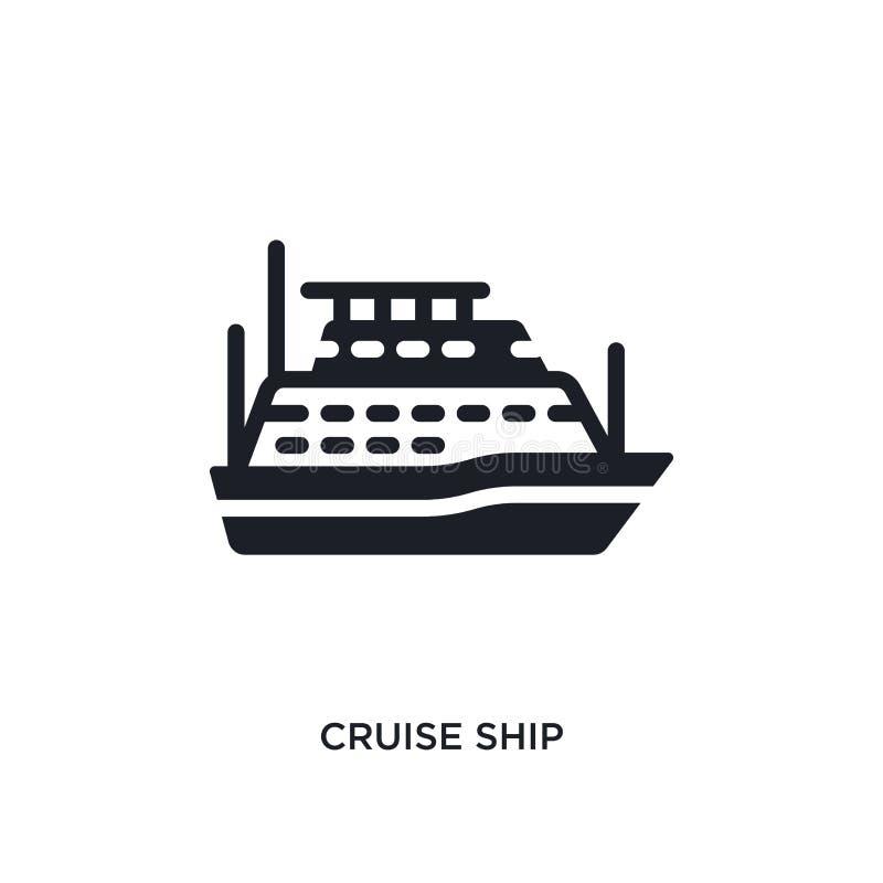 cruiseschip geïsoleerd pictogram eenvoudige elementenillustratie van zeevaartconceptenpictogrammen van het het embleemteken van h royalty-vrije illustratie