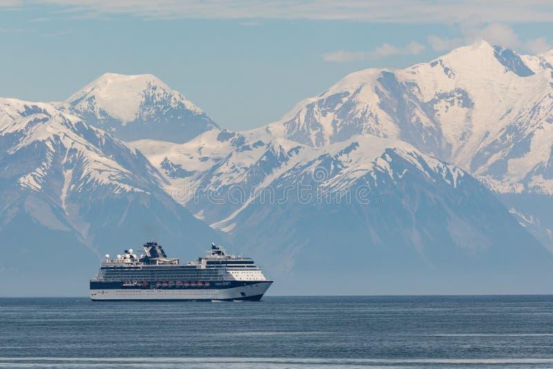 Cruiseschip in Ontgoochelingsbaai royalty-vrije stock foto's