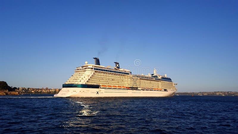 Cruiseschip overzee royalty-vrije stock foto