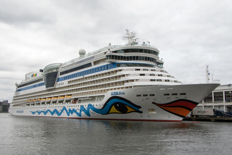 Cruiseship AIDAdiva 免版税库存照片