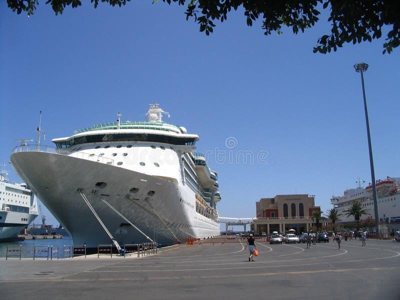 cruiseship portu morskiego zdjęcia stock