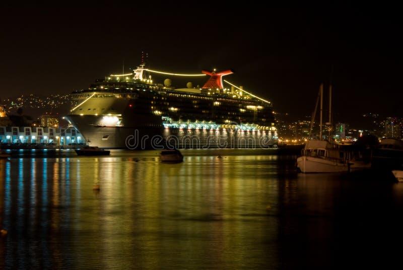 Download Cruiseship Reflecting At Night Stock Image - Image: 8685985