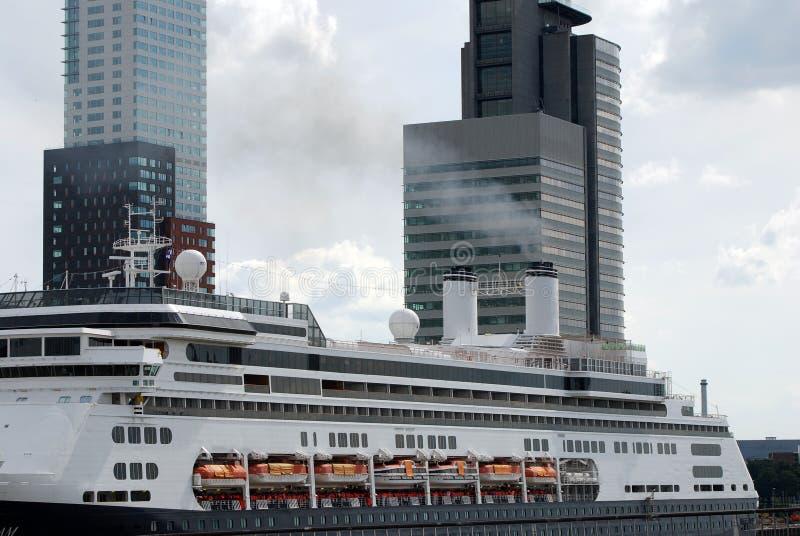 cruiseship Rotterdam zdjęcie stock