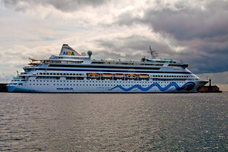 Cruisevoering AIDA Vita royalty-vrije stock foto