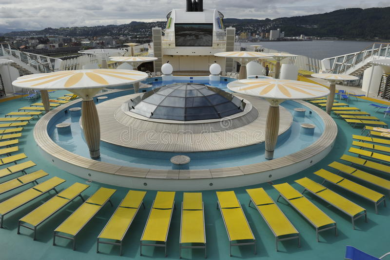 Cruisevoering AIDALuna stock afbeelding