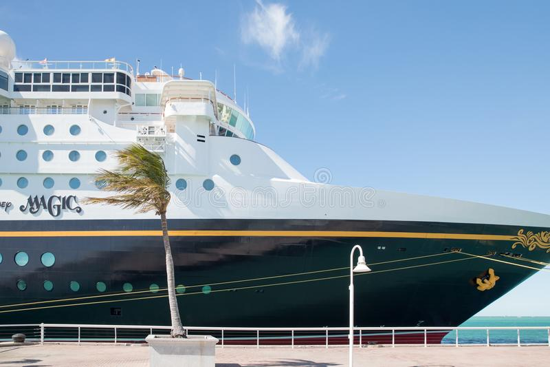 Cruisevoering Disney Magisch in Key West, Florida stock foto's