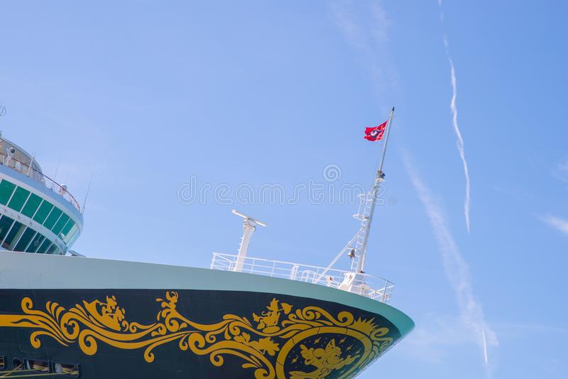Cruisevoering Disney Magisch in Key West, Florida royalty-vrije stock foto's