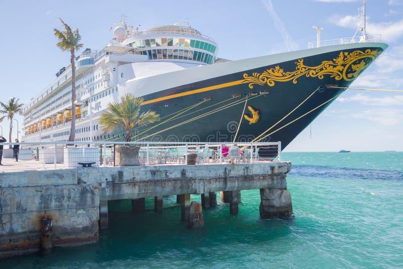 Cruisevoering Disney Magisch in Key West, Florida stock fotografie