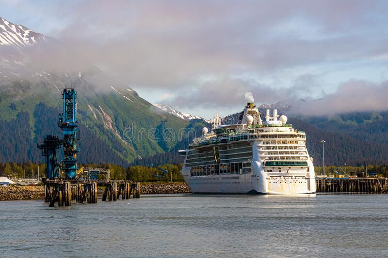 Cruising Alaska stock photo