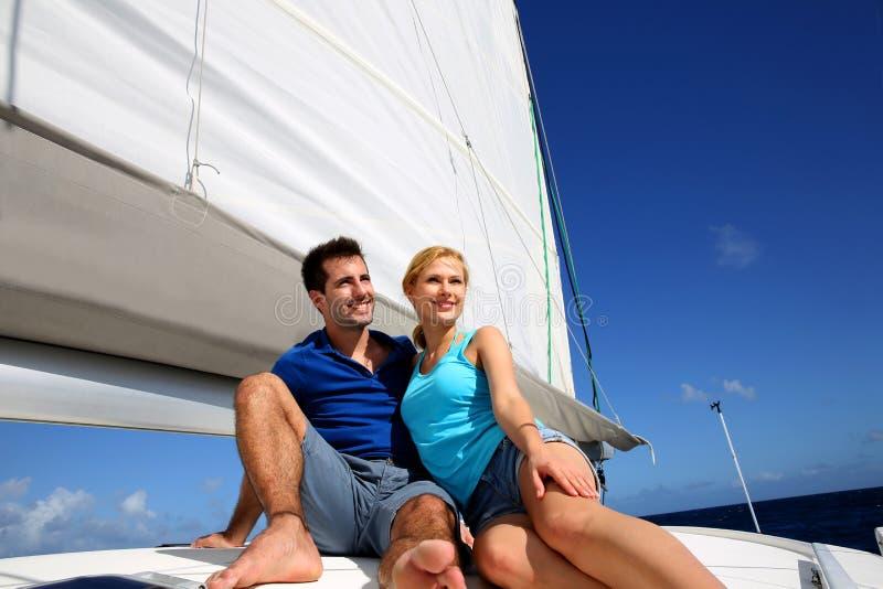 Download Cruising day stock image. Image of couple, cruise, sailing - 28292215