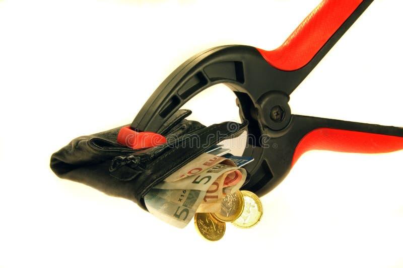 Crujido de crédito imagen de archivo libre de regalías