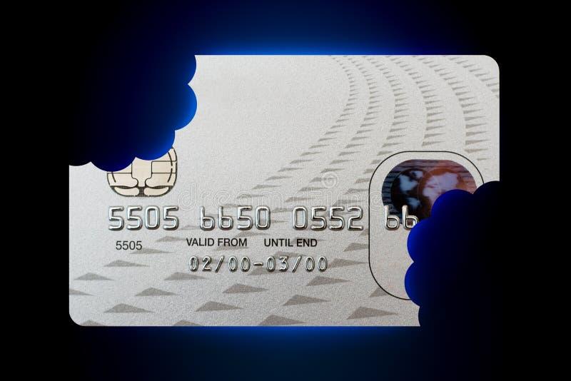 Crujido de crédito con el camino foto de archivo libre de regalías