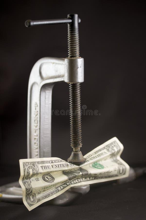 Crujido del dinero foto de archivo