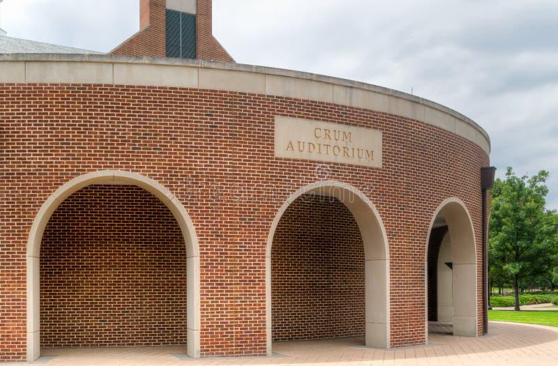 Crum salong på universitetsområdet av universitetet för sydlig metodist arkivbilder