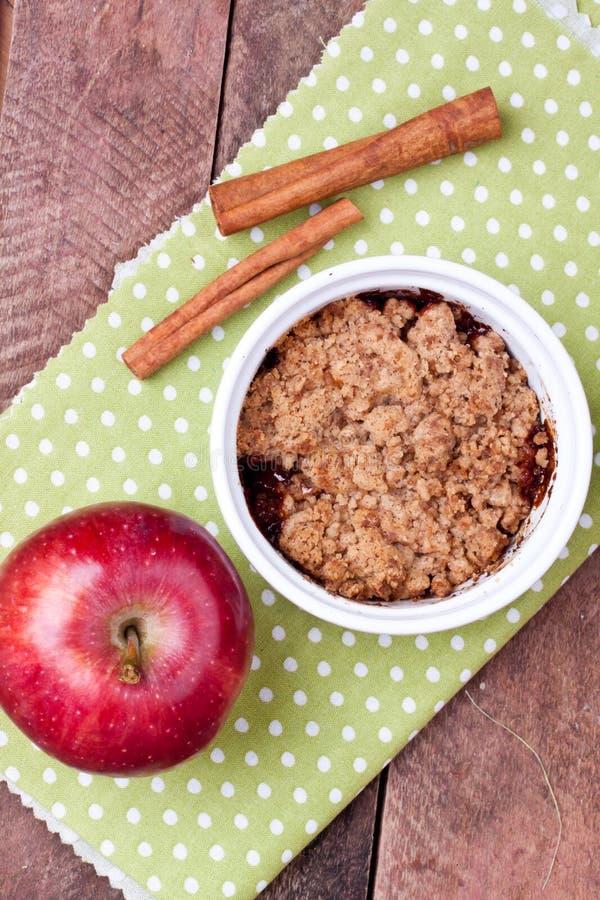 Crumble Яблока стоковое фото