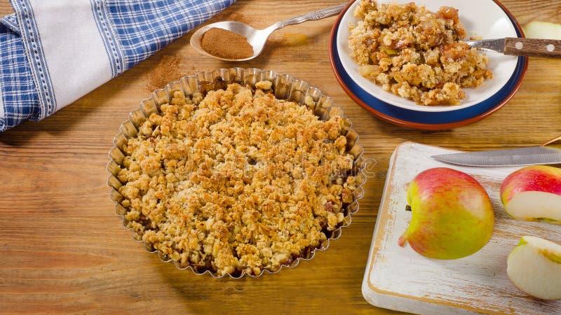 Crumble Яблока стоковое изображение