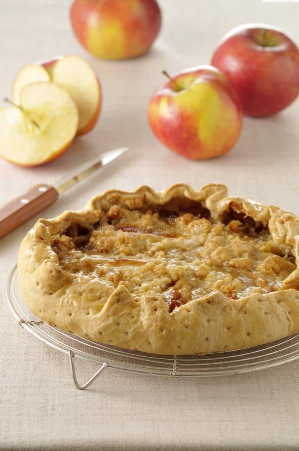 Crumble-style apple tart royalty free stock image
