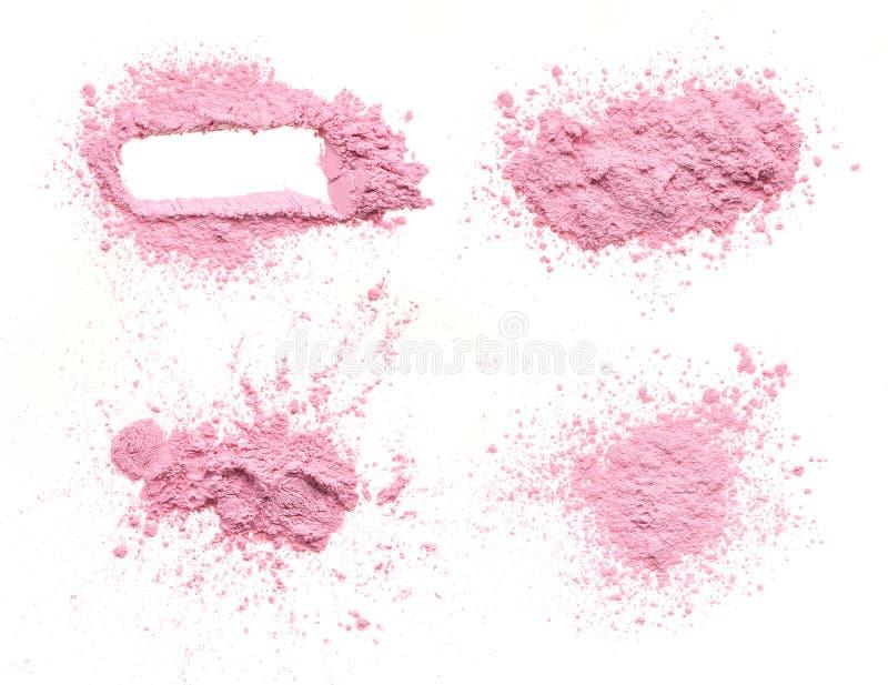 Crumbled pink powder royalty free stock image