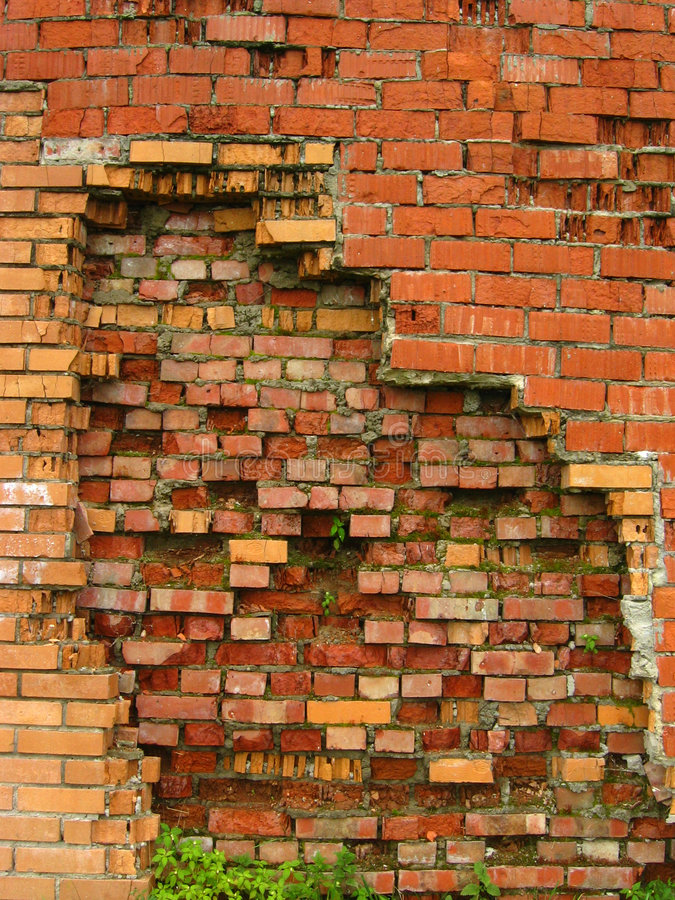 Download Crumbling stock photo. Image of wall, collapse, brick, block - 190152