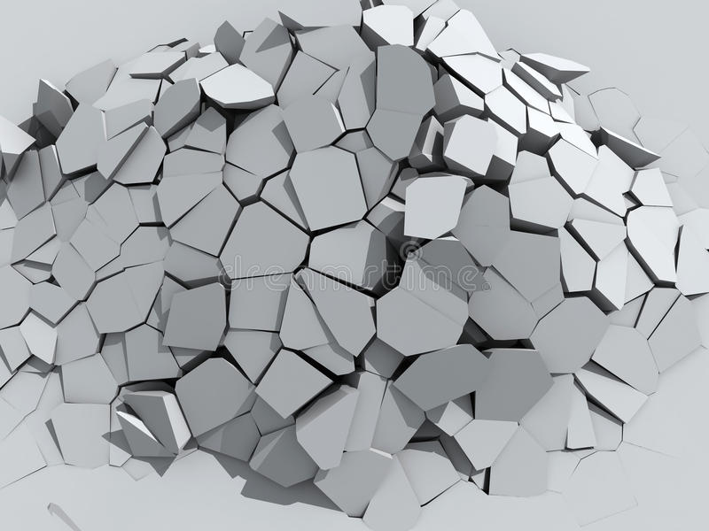 Crumbling concrete wall vector illustration
