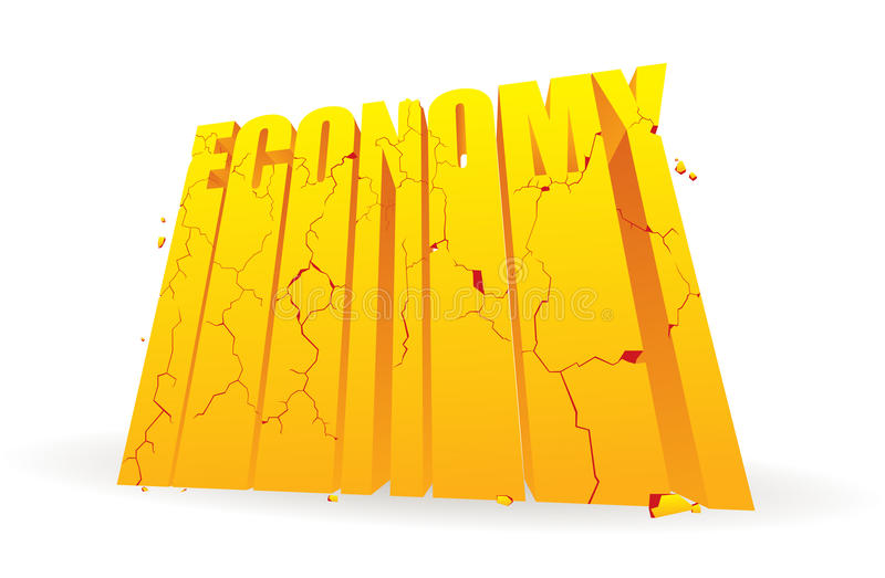 Crumbling Economy Royalty Free Stock Photography